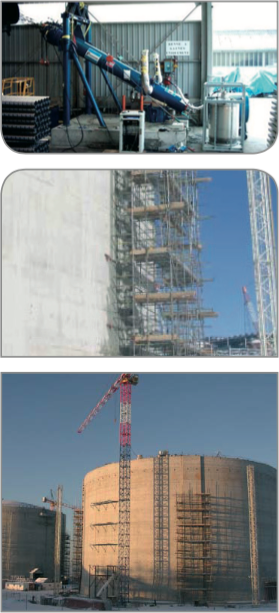 LNG tank post-tensioning