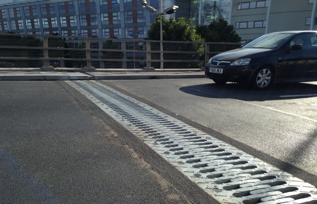 Bridge expansion joints installed by Freyssinet on St George's Bridge, Doncaster