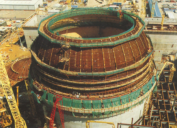view from above a sizewell reactor following power generation plant repairs