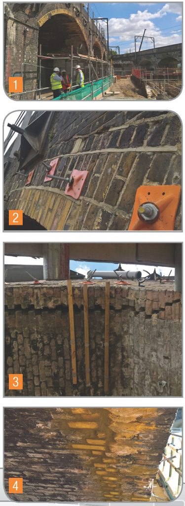 Viaduct brickwork repair