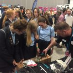 Engaging students at STEM event