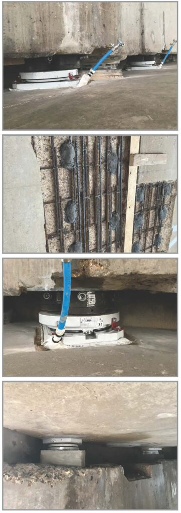 bearing replacement and concrete repairs
